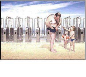 διοδια στη παραλία